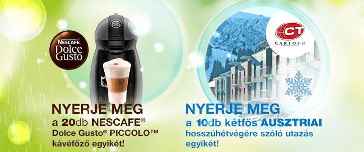 Nyerjen NESCAFÉ® Dolce Gusto® kávéfőzőt vásárlásával!