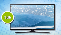 "3 db Samsung 43""  UHD 4K SIK SMART KU6000 SZÉRIA6 TV."